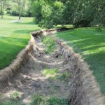 Erosion on church property from runoff