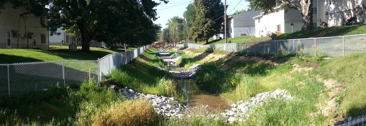 Rockbrook Tributary - 4 months after construction started
