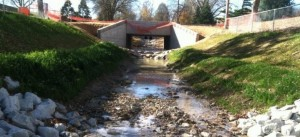 View of new culvert facing south